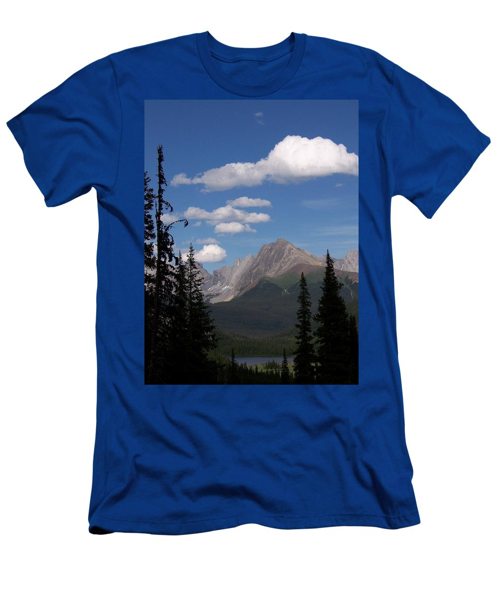Spectacular View Men's T-Shirt (Athletic Fit) featuring the photograph Into The Valley by Greg Hammond