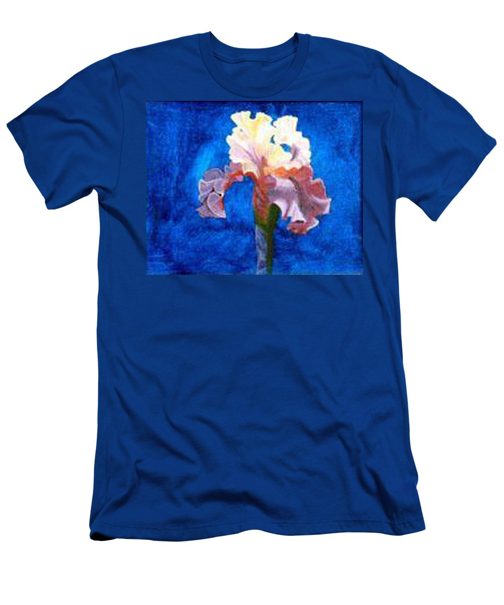 Iris Men's T-Shirt (Athletic Fit) featuring the painting Iris by Richard Le Page