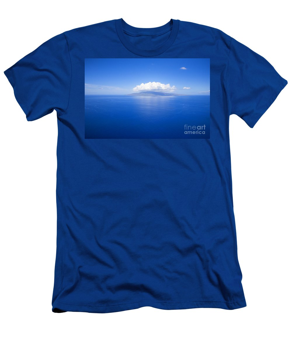 Above Men's T-Shirt (Athletic Fit) featuring the photograph Island Of Lanai by Ron Dahlquist - Printscapes
