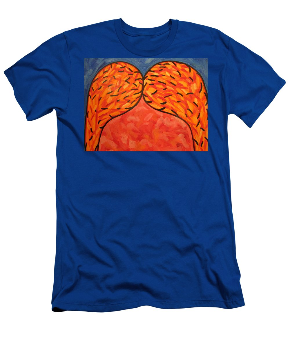 Abstract Men's T-Shirt (Athletic Fit) featuring the painting It Takes Two by Steven Miller