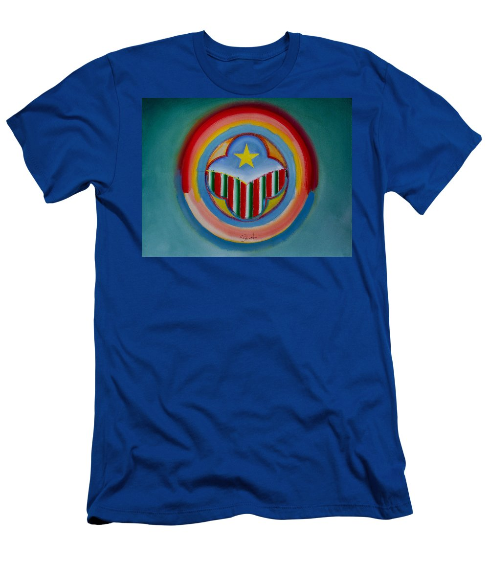 Button Men's T-Shirt (Athletic Fit) featuring the painting Italian American by Charles Stuart