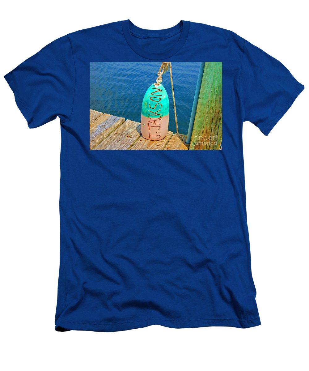 Water Men's T-Shirt (Athletic Fit) featuring the photograph Its A Buoy by Debbi Granruth