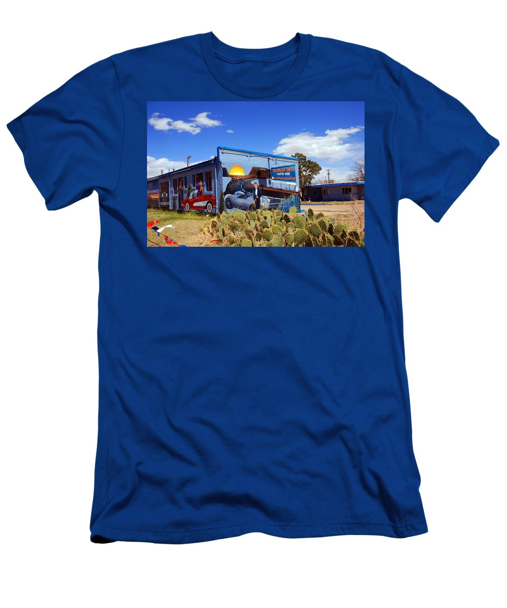 Route 66 T-Shirt featuring the photograph James Dean was here too by Susanne Van Hulst