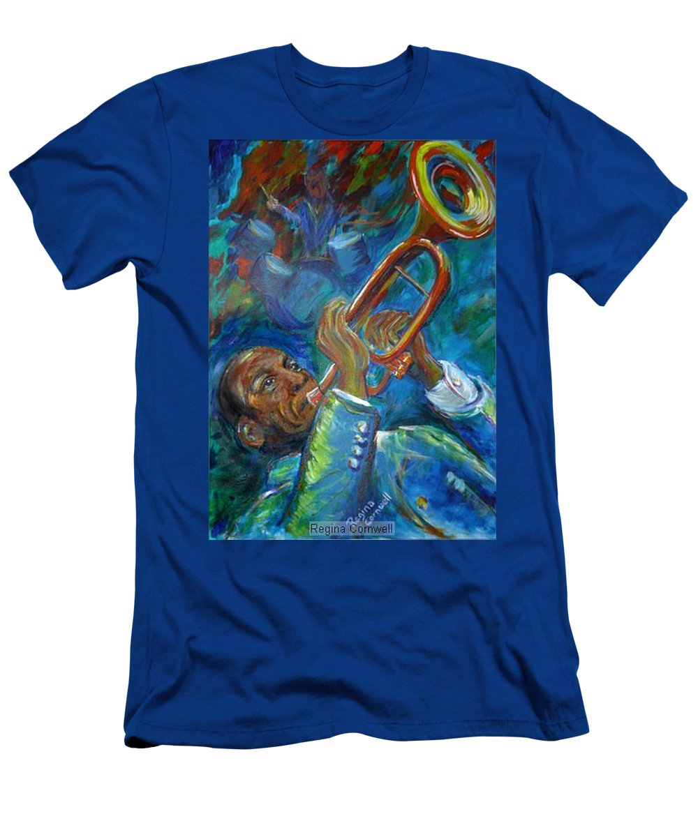 Jazz Men's T-Shirt (Athletic Fit) featuring the painting Jazz Man by Regina Walsh