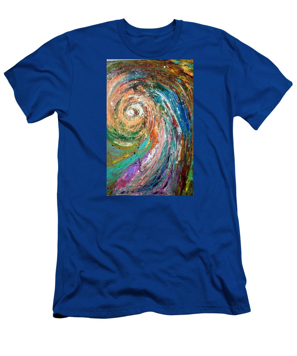 Spinning Colors T-Shirt featuring the painting Joy by Valerie Josi