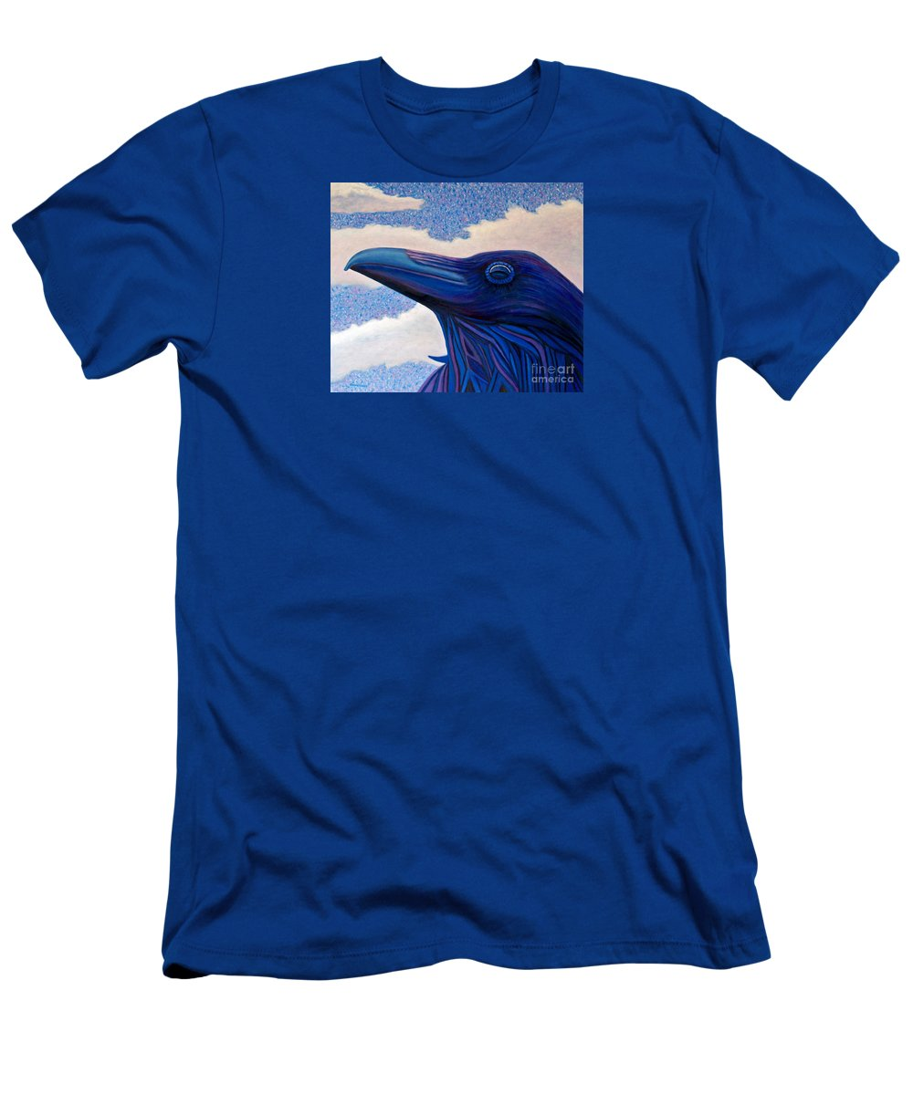 Raven Men's T-Shirt (Athletic Fit) featuring the painting Just Once by Brian Commerford