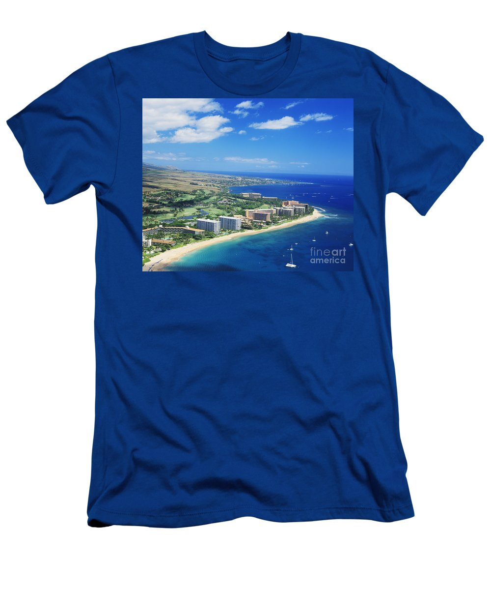 Above Men's T-Shirt (Athletic Fit) featuring the photograph Kaanapali by Kyle Rothenborg - Printscapes