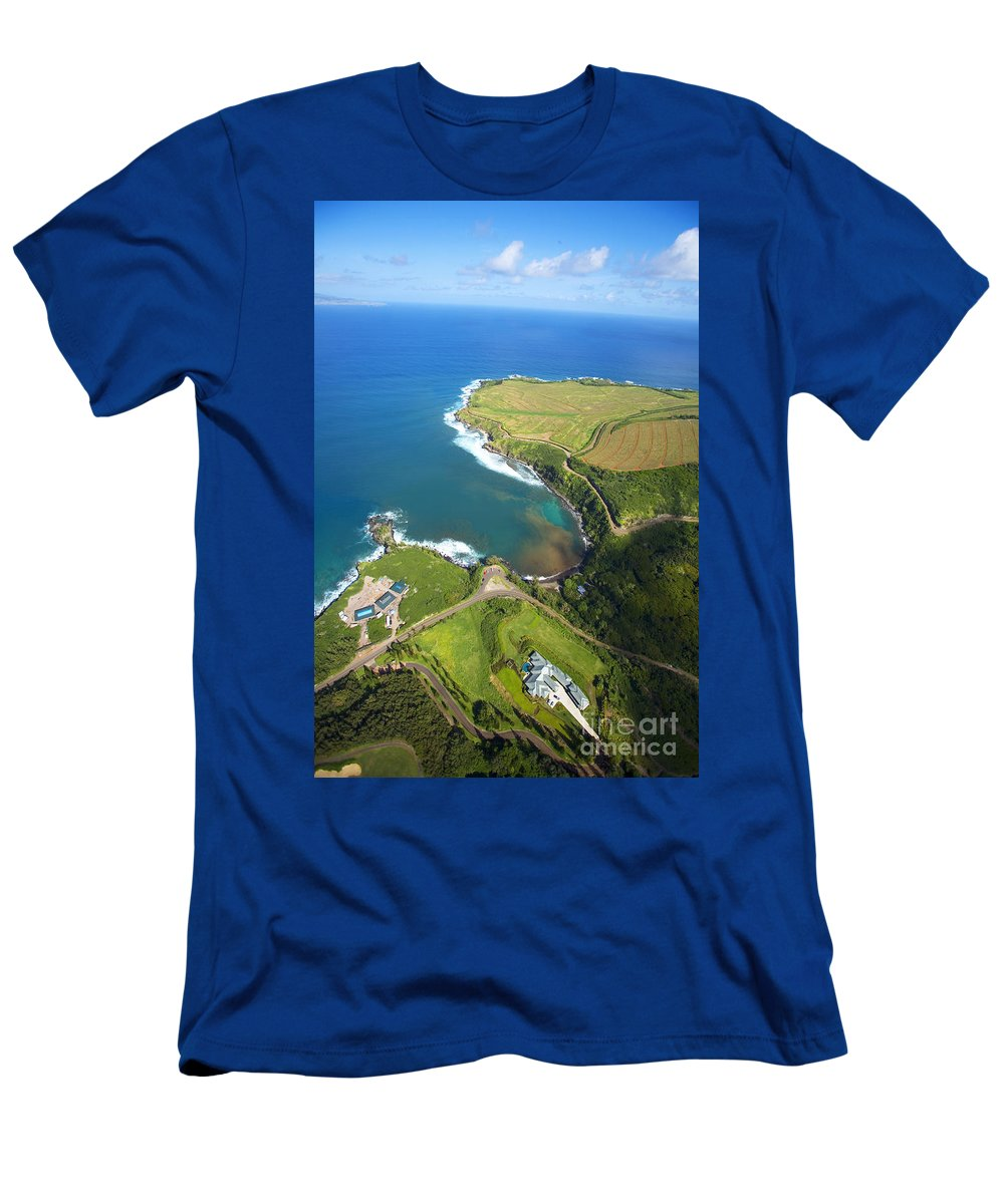 Above Men's T-Shirt (Athletic Fit) featuring the photograph Kapalua Resort by Ron Dahlquist - Printscapes