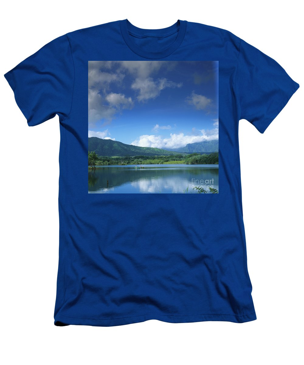 Blue Men's T-Shirt (Athletic Fit) featuring the photograph Kauaihai Ridge by Kate Turning & Tom Gibson - Printscapes