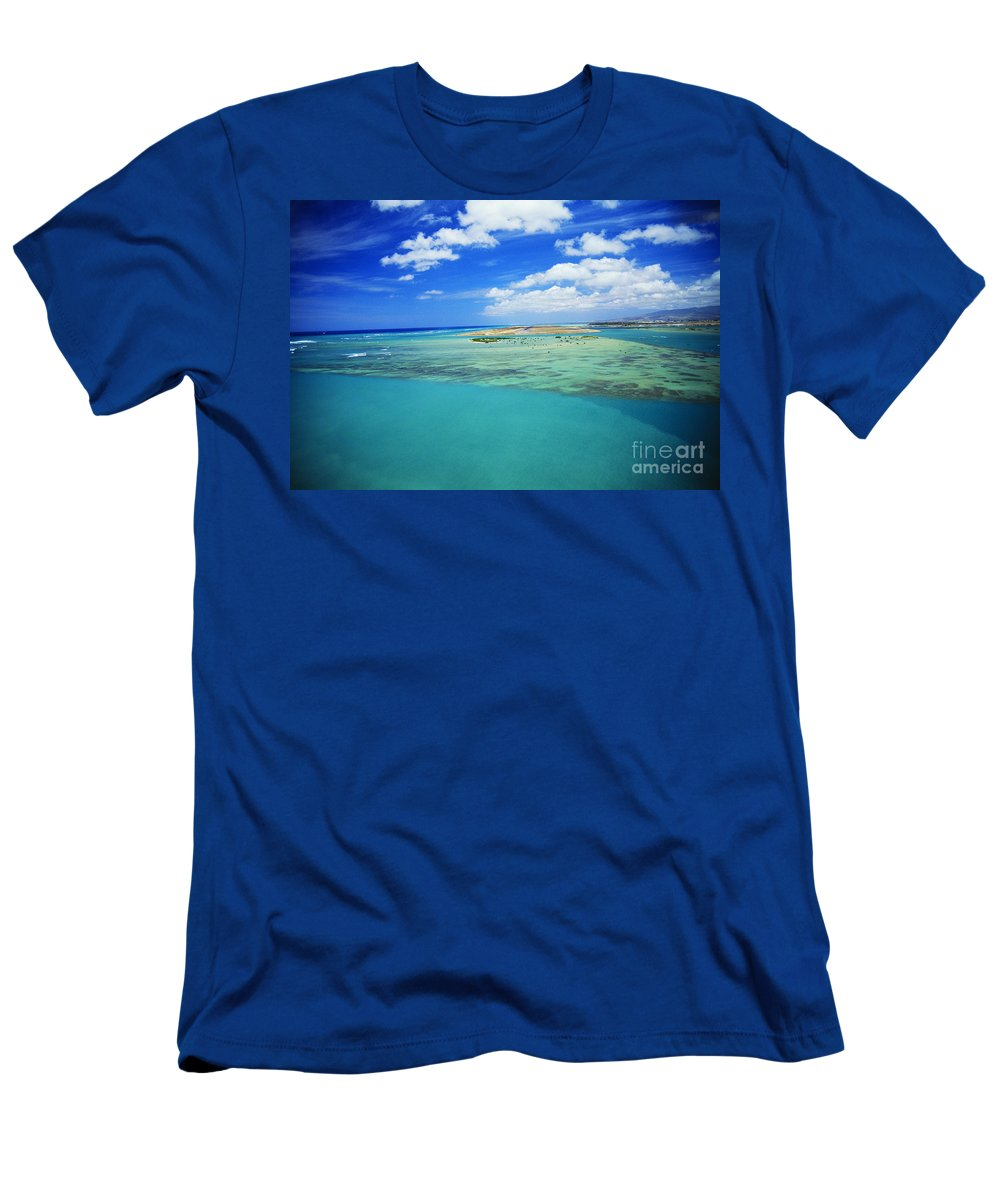 Above Men's T-Shirt (Athletic Fit) featuring the photograph Keehi Lagoon by Bob Abraham - Printscapes