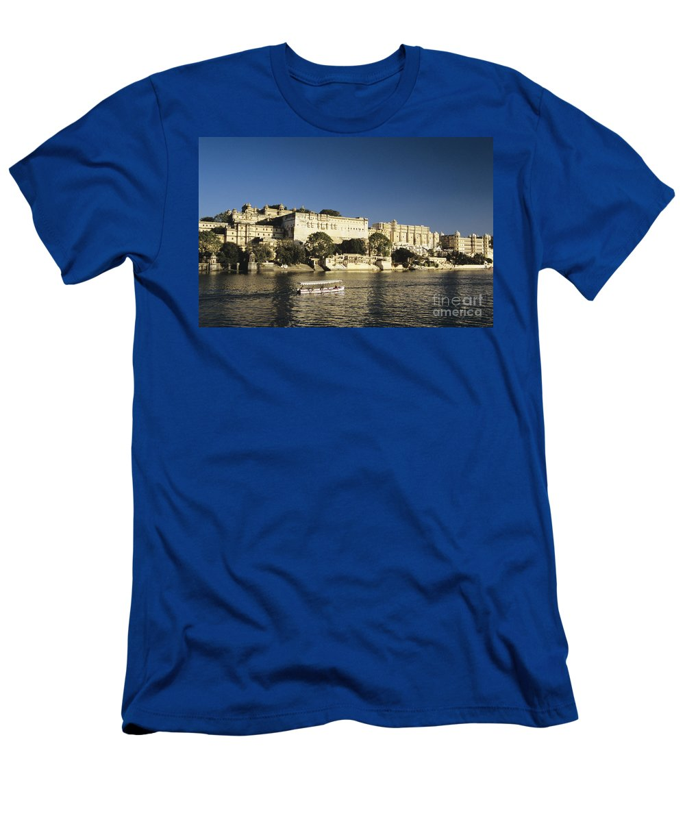 Architectural Men's T-Shirt (Athletic Fit) featuring the photograph Lake Pichola by Gloria and Richard Maschmeyer - Printscapes