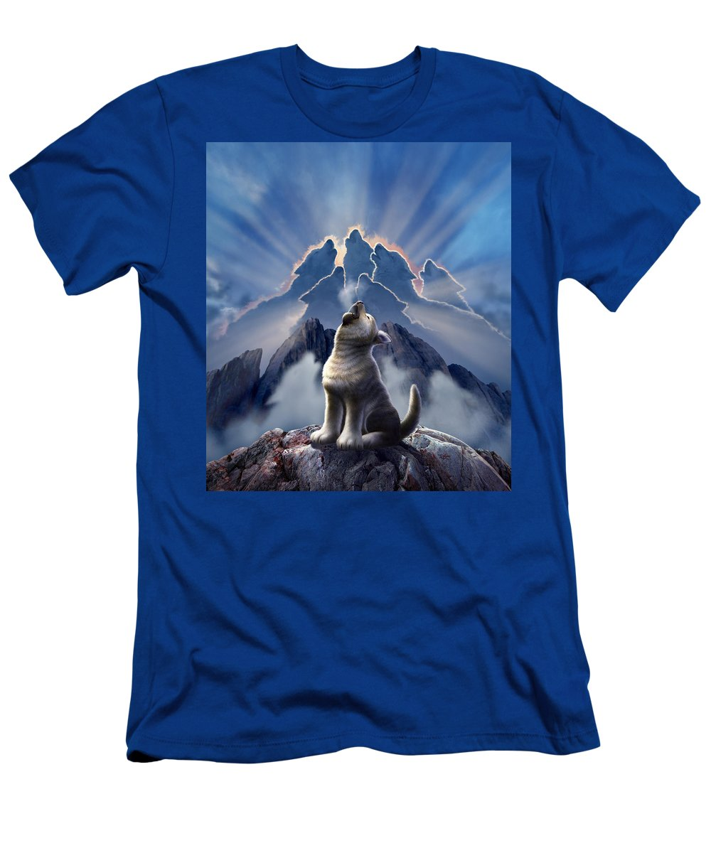Wolf T-Shirt featuring the digital art Leader of the Pack by Jerry LoFaro