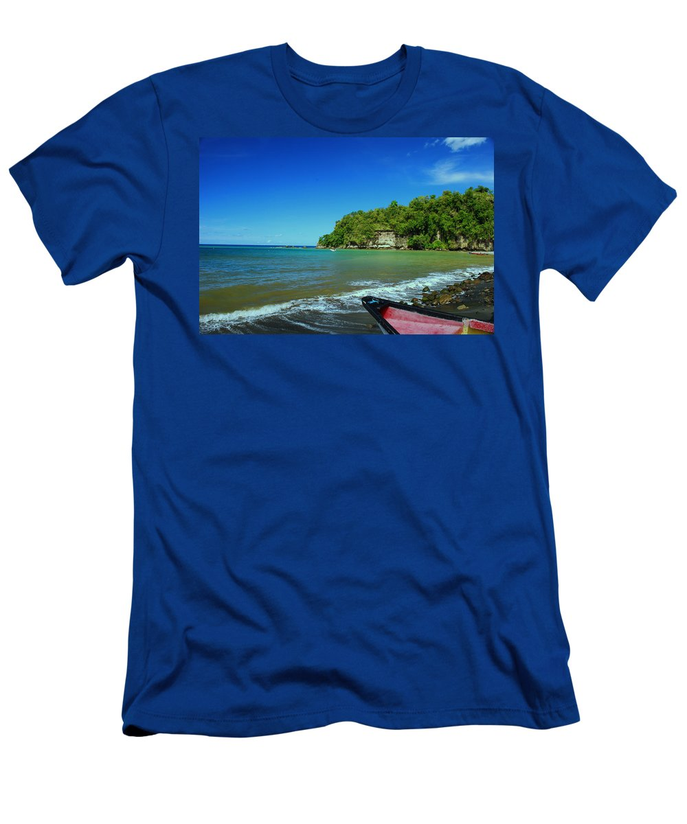 Boat Men's T-Shirt (Athletic Fit) featuring the photograph Let's Go by Gary Wonning