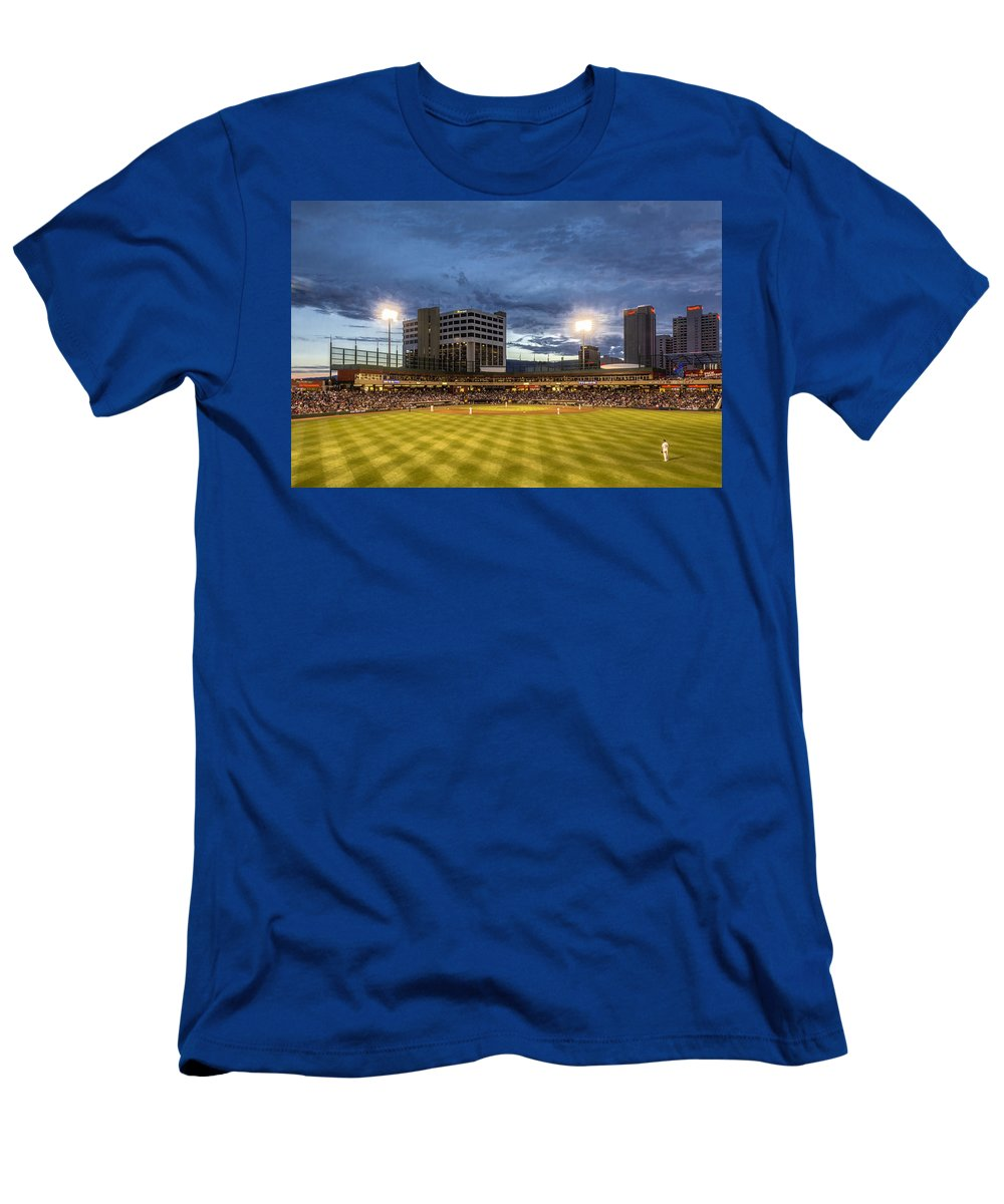 Activity Men's T-Shirt (Athletic Fit) featuring the photograph Let's Play Ball by Maria Coulson