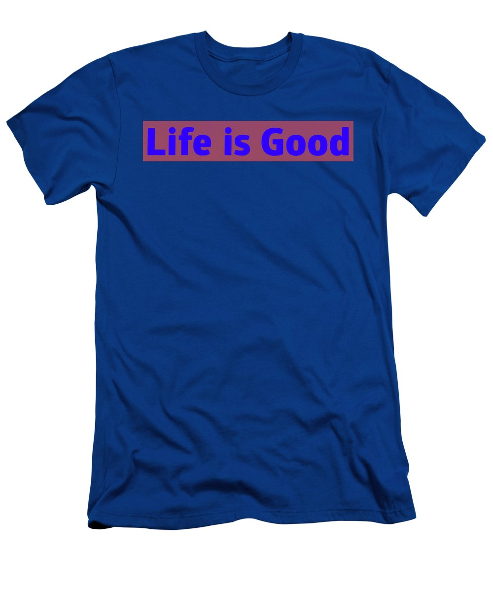 Life Is Good Men's T-Shirt (Athletic Fit) featuring the photograph Life Is Good 2 by Cathy Lindsey