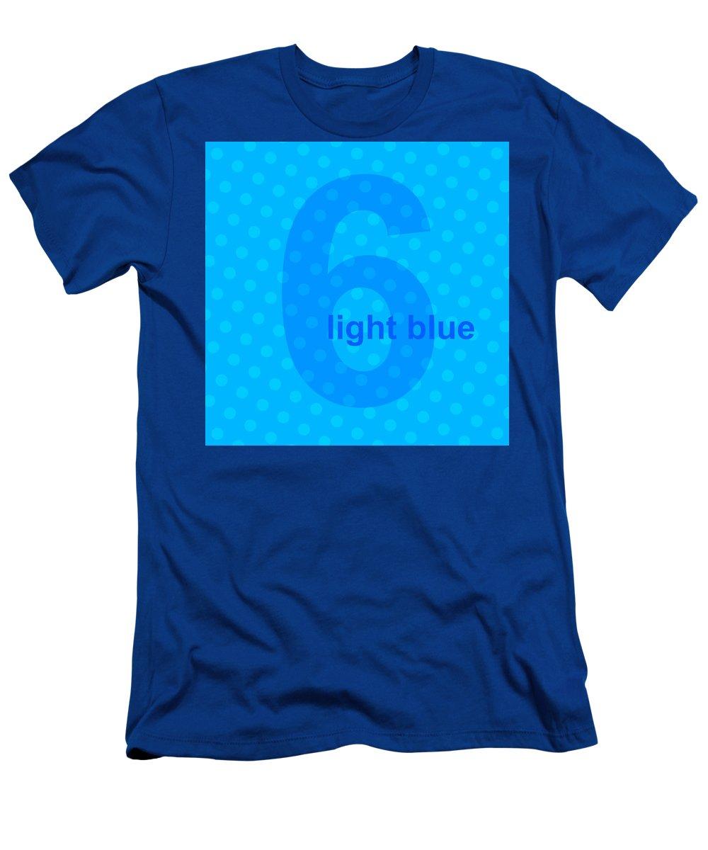 Divine Men's T-Shirt (Athletic Fit) featuring the digital art Light Blue Angel by Maciej Mackiewicz