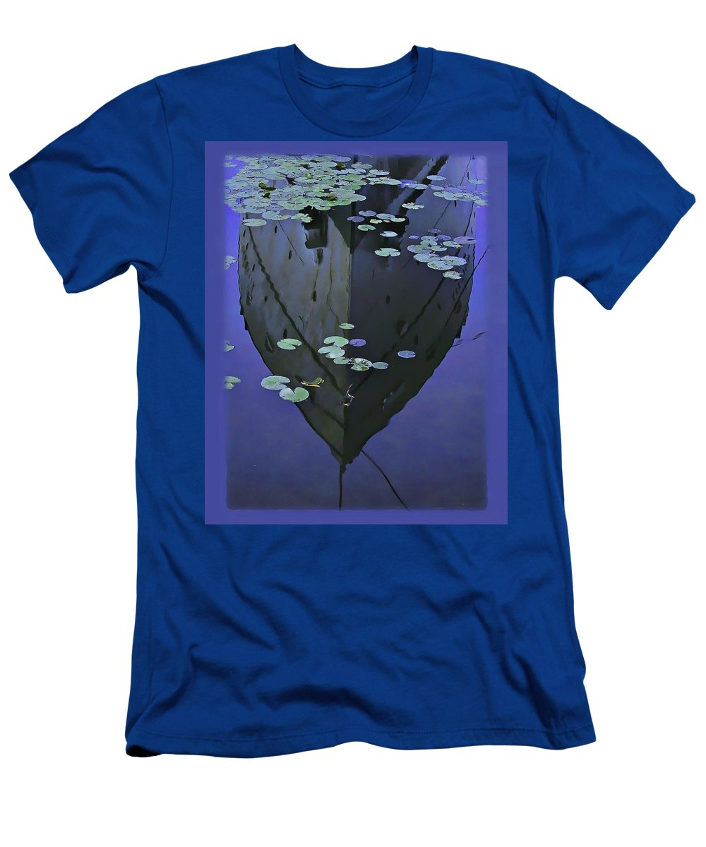 Nature Men's T-Shirt (Athletic Fit) featuring the photograph Lily Pads And Reflection by John Hansen