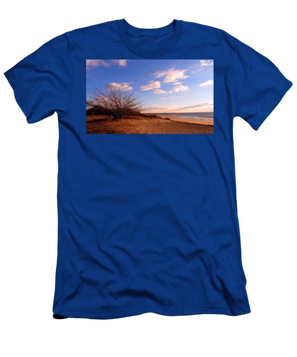 Landscape Men's T-Shirt (Athletic Fit) featuring the photograph Listen To The Quiet by Kendall Eutemey