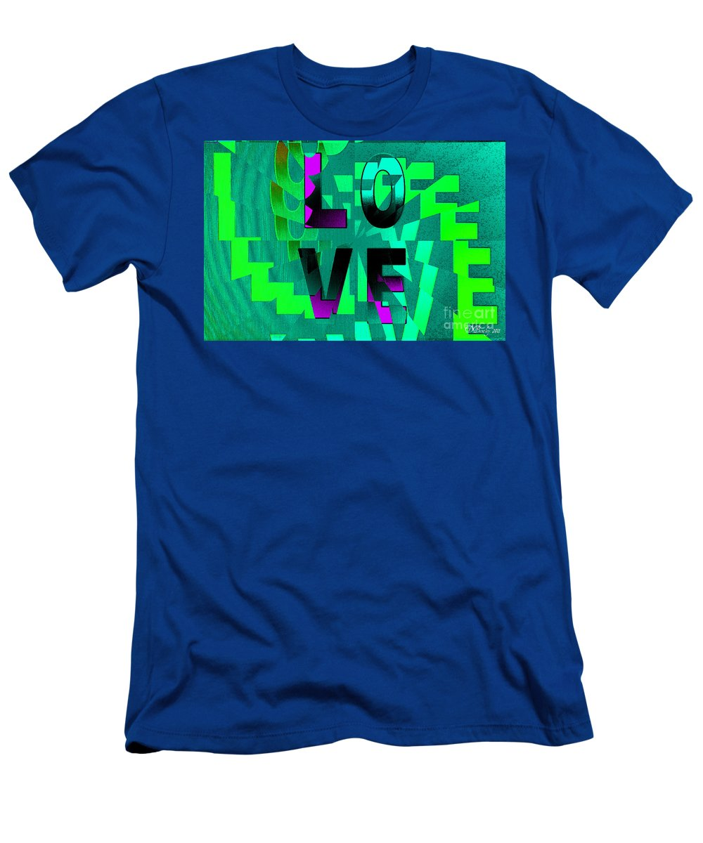 Love Men's T-Shirt (Athletic Fit) featuring the digital art Lo Ve by Donna Bentley