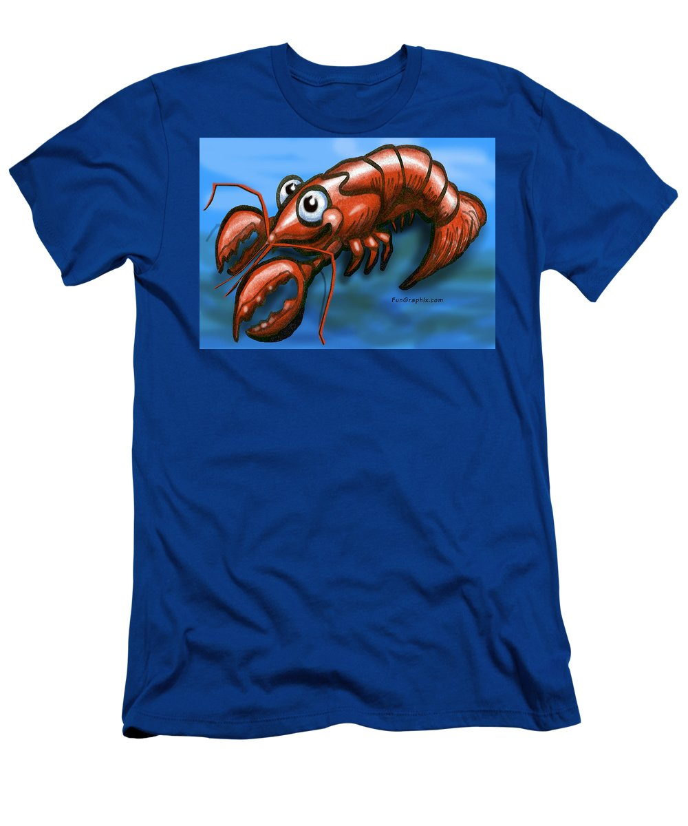 Lobster Men's T-Shirt (Athletic Fit) featuring the greeting card Lobster by Kevin Middleton