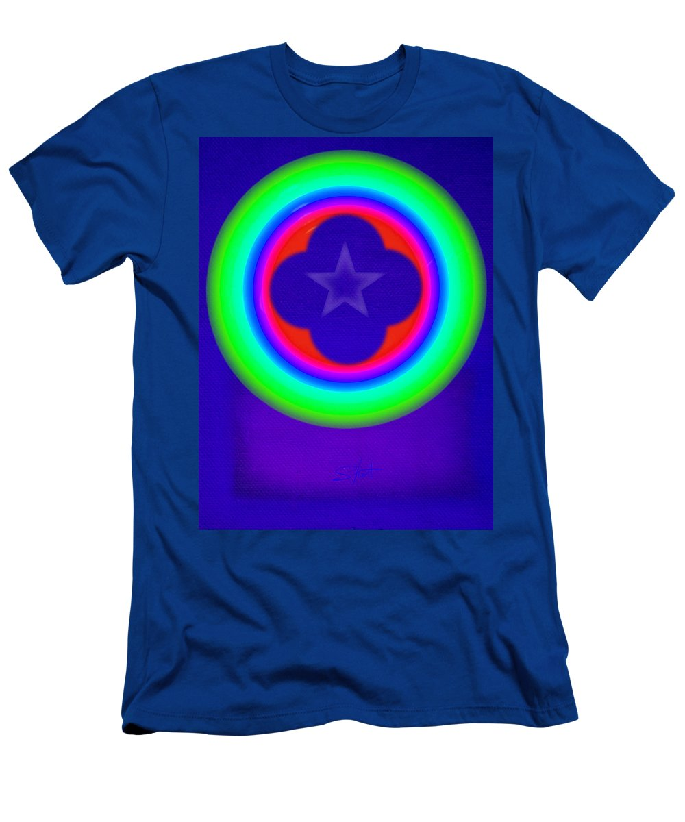 Abstract Men's T-Shirt (Athletic Fit) featuring the painting Logos by Charles Stuart
