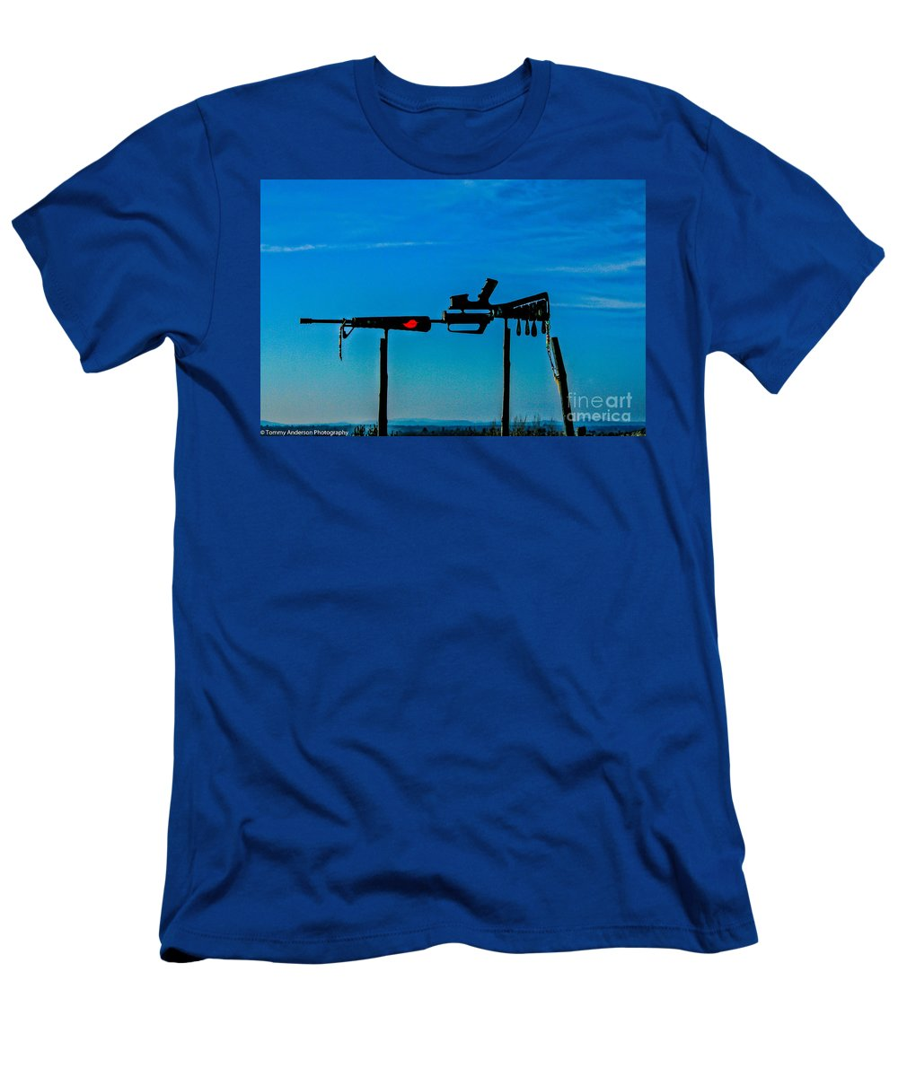 Vietnam Men's T-Shirt (Athletic Fit) featuring the photograph Look Up To The Sky For Rescue by Tommy Anderson