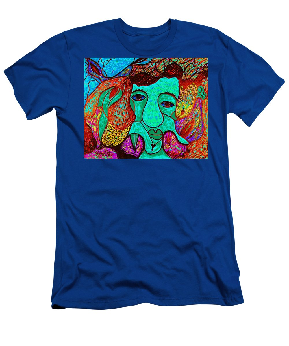 Man T-Shirt featuring the painting Looking For Love by Natalie Holland