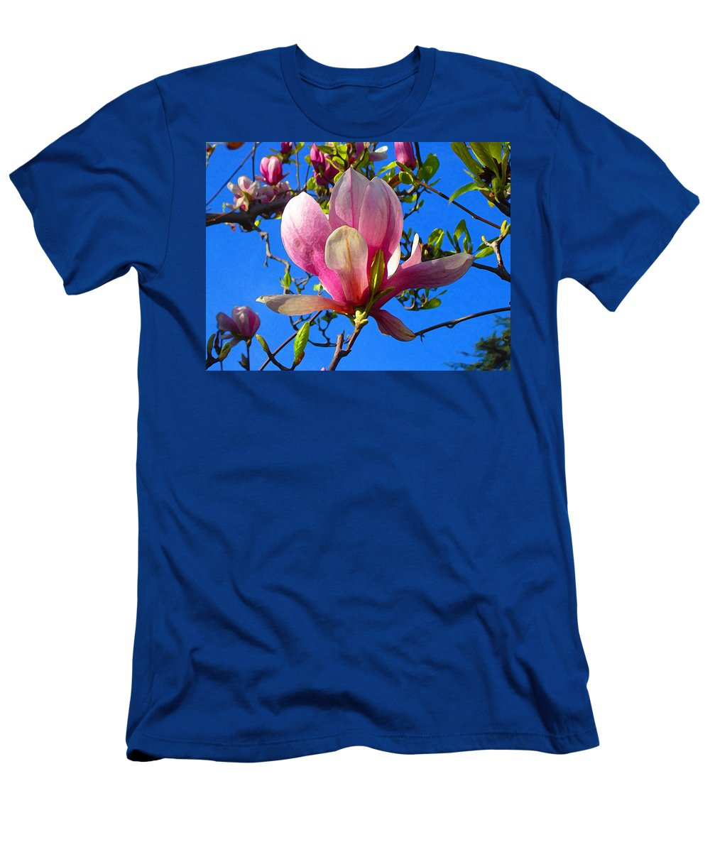 Magnolia Men's T-Shirt (Athletic Fit) featuring the painting Magnolia Flower by Amy Vangsgard