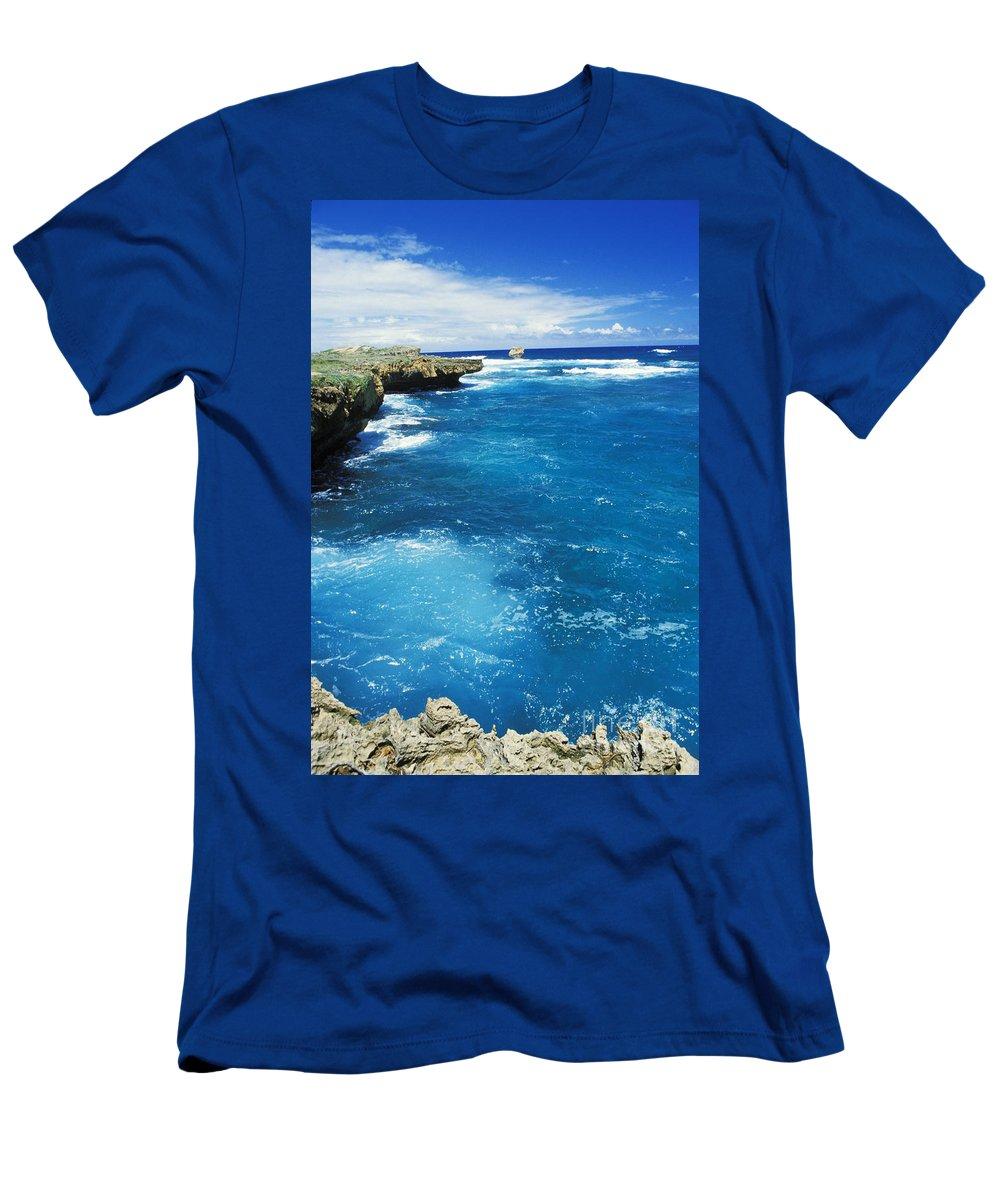 Blue Men's T-Shirt (Athletic Fit) featuring the photograph Mahaulepu Koloa by Mary Van de Ven - Printscapes
