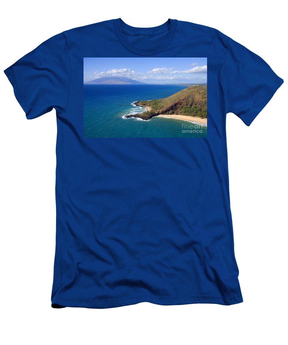 Above Men's T-Shirt (Athletic Fit) featuring the photograph Makena, Maui by Ron Dahlquist - Printscapes