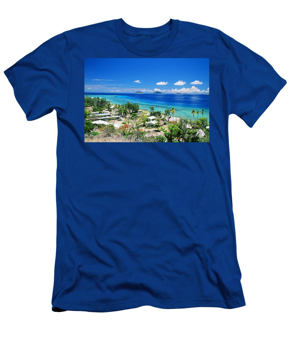 Beautiful Men's T-Shirt (Athletic Fit) featuring the photograph Mana Island by Dave Fleetham - Printscapes
