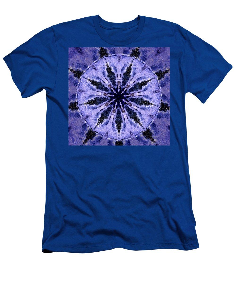 Mandala Men's T-Shirt (Athletic Fit) featuring the digital art Mandala Ocean Wave by Nancy Griswold