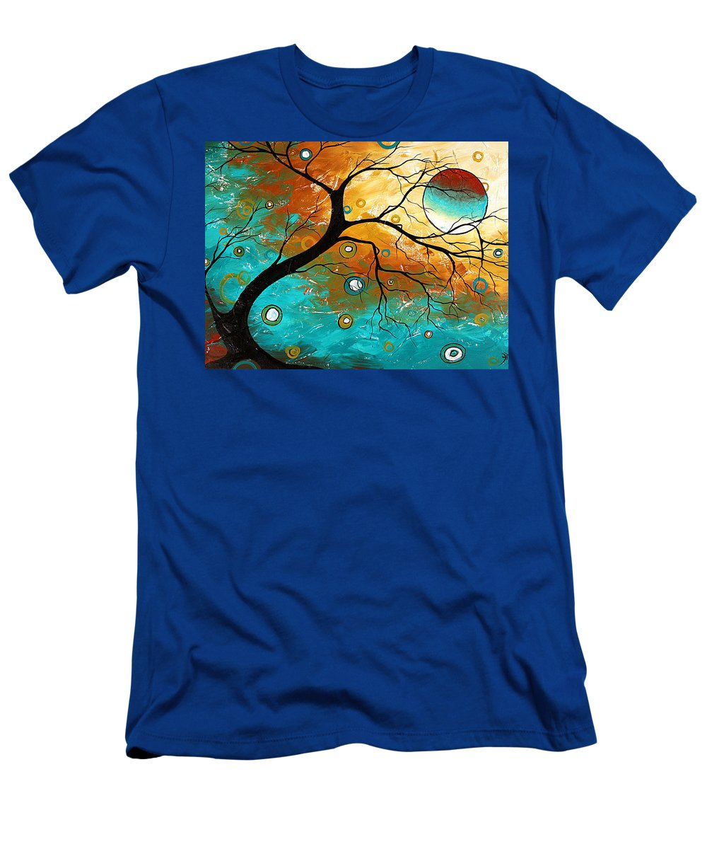Art Men's T-Shirt (Athletic Fit) featuring the painting Many Moons Ago By Madart by Megan Duncanson