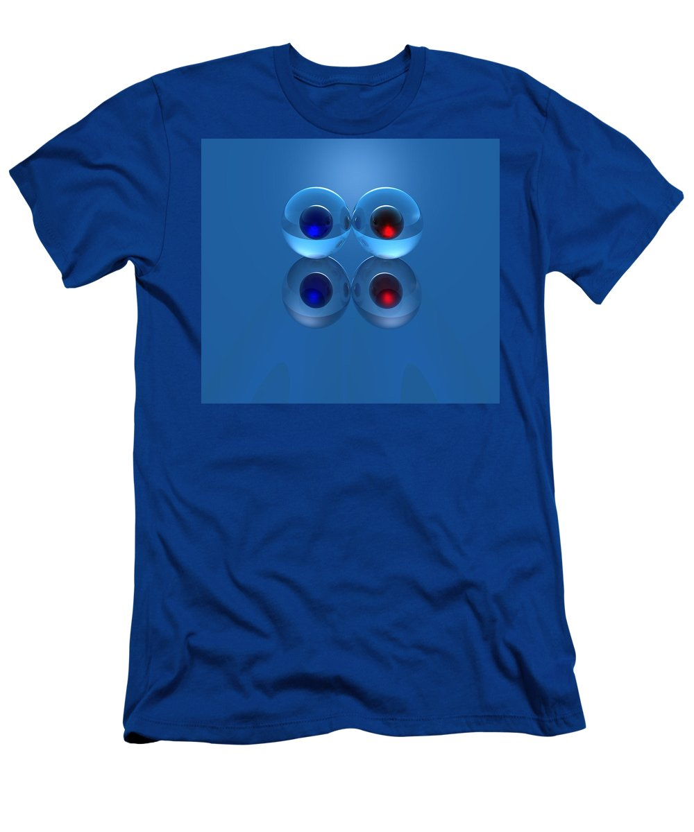 Marbles Men's T-Shirt (Athletic Fit) featuring the digital art Marbles by Lyle Hatch