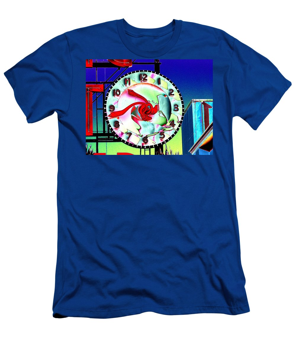 Seattle Men's T-Shirt (Athletic Fit) featuring the photograph Market Clock 2 by Tim Allen