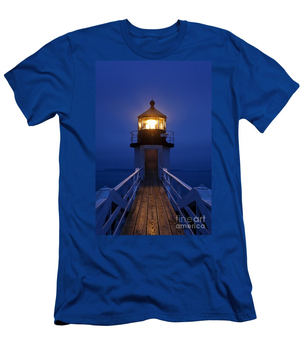 Maine Men's T-Shirt (Athletic Fit) featuring the photograph Marshall Point Light Station by John Greim