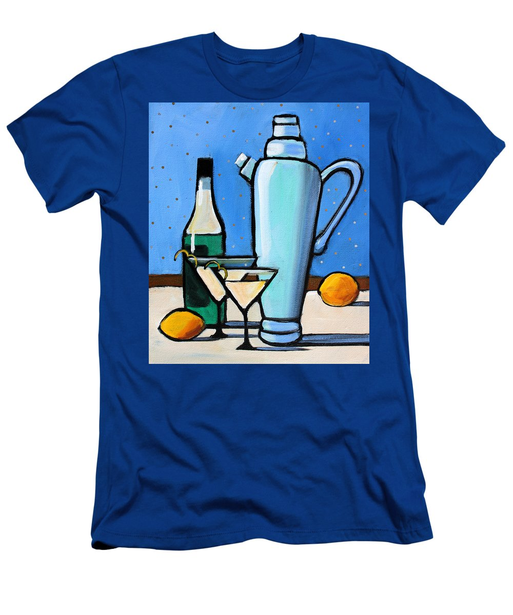 Martini Men's T-Shirt (Athletic Fit) featuring the painting Martini Night by Toni Grote