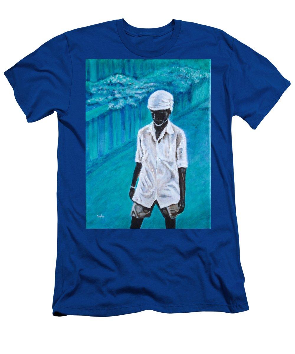 Usha Men's T-Shirt (Athletic Fit) featuring the painting Mason by Usha Shantharam