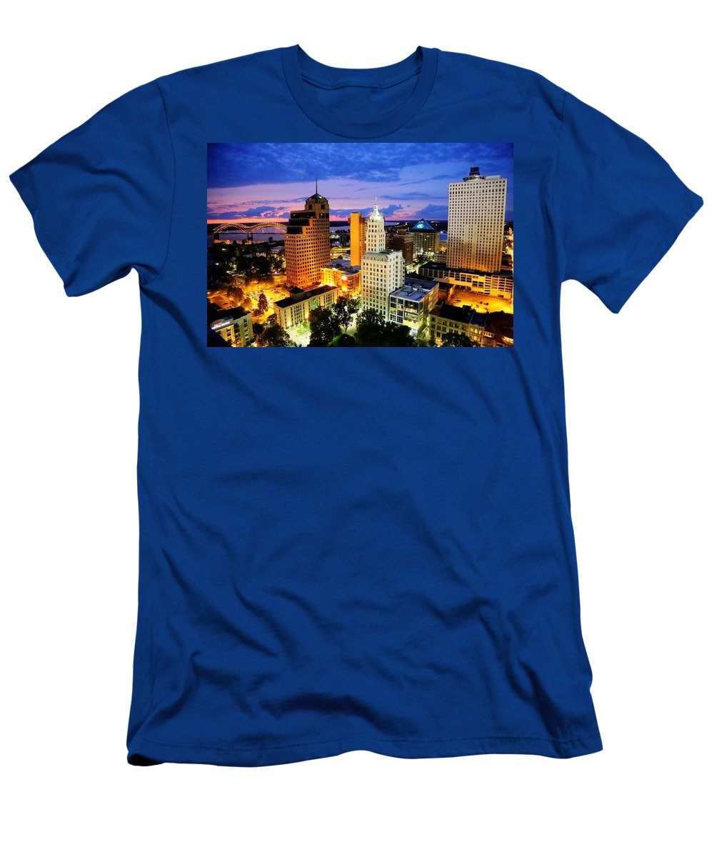 Memphis Men's T-Shirt (Athletic Fit) featuring the photograph Memphis, Tennessee by Billy Morris