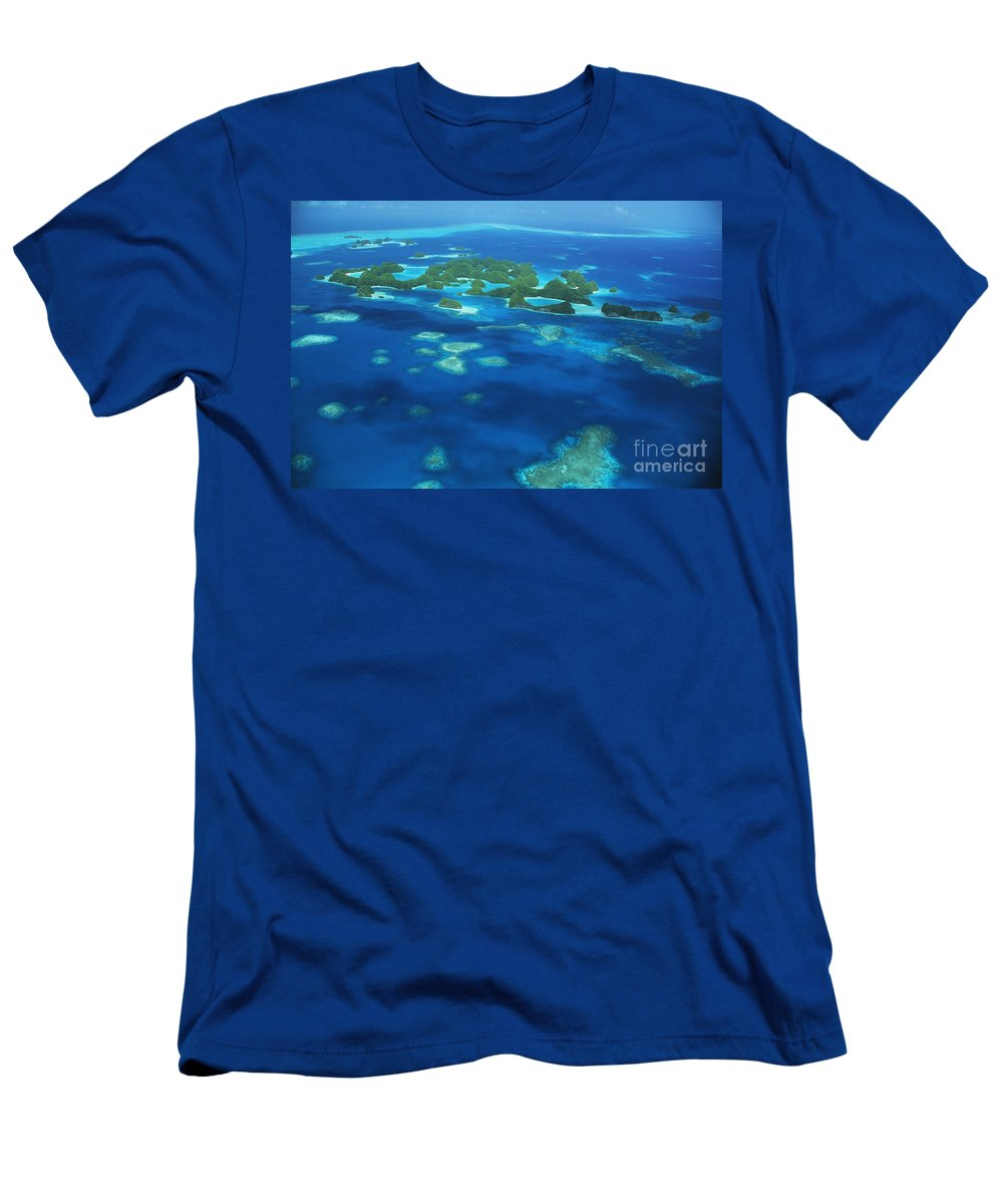 Above Men's T-Shirt (Athletic Fit) featuring the photograph Micronesian Islands by Allan Seiden - Printscapes