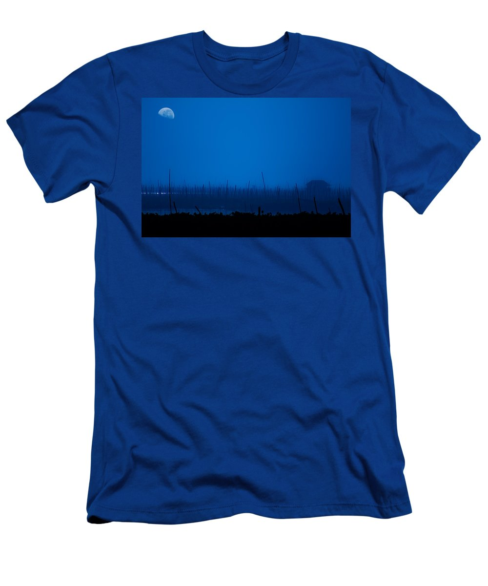 Lake Men's T-Shirt (Athletic Fit) featuring the photograph Midnight Blue by George Cabig