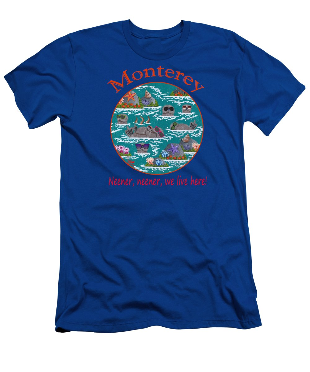 Merry Kohn T-Shirt featuring the painting Monterey Neener by Merry Kohn Buvia