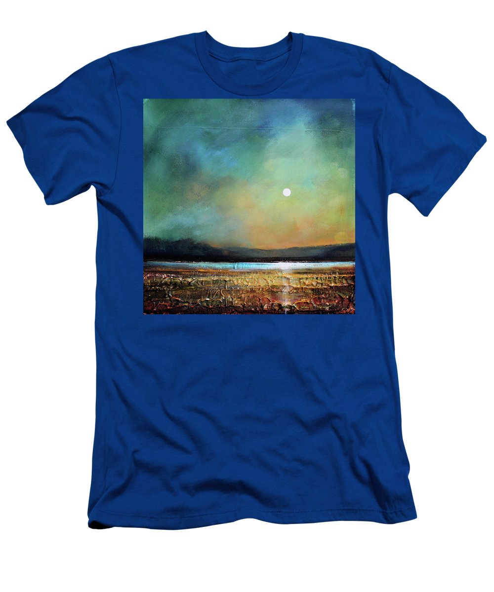 Tonalist Men's T-Shirt (Athletic Fit) featuring the painting Moody Light by Toni Grote