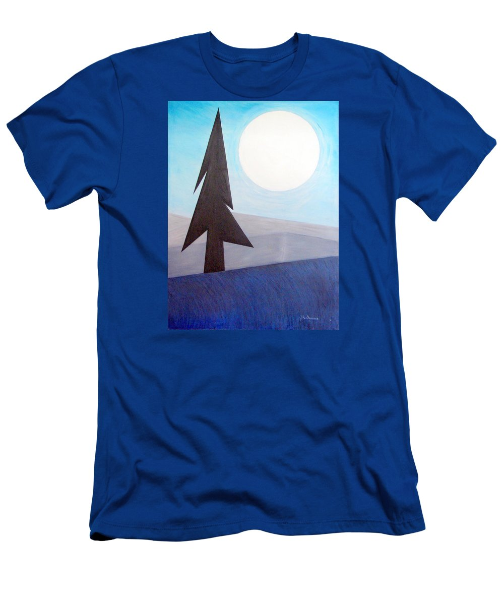 Phases Of The Moon Men's T-Shirt (Athletic Fit) featuring the painting Moon Rings by J R Seymour