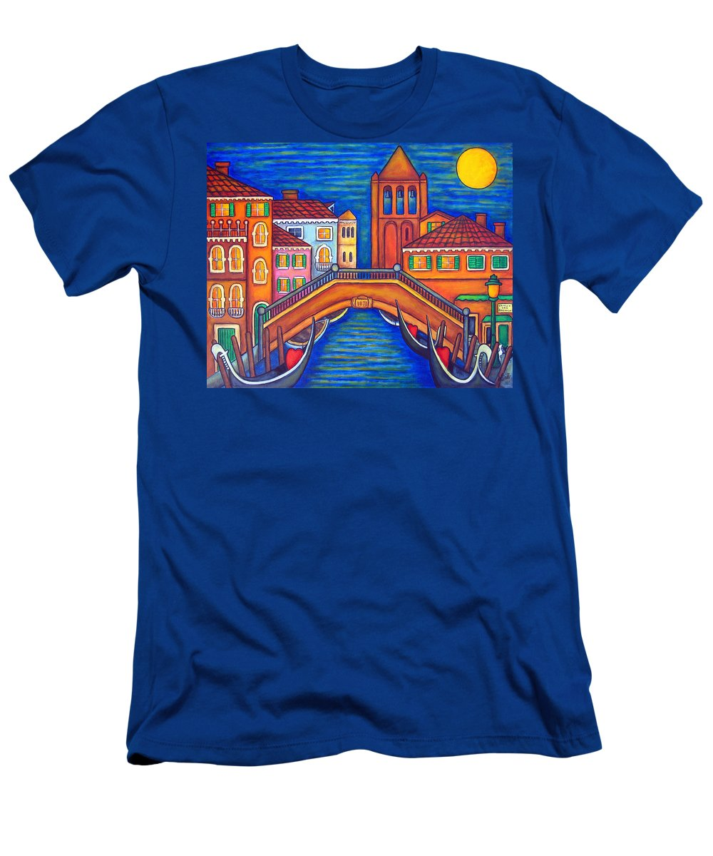 Moonlit T-Shirt featuring the painting Moonlit San Barnaba, Venice by Lisa Lorenz