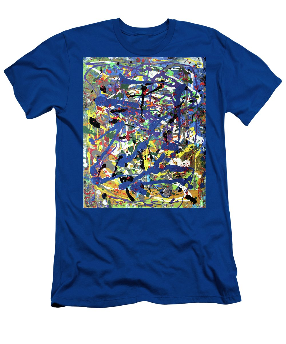 Blue T-Shirt featuring the painting More Blueness by Pam Roth O'Mara