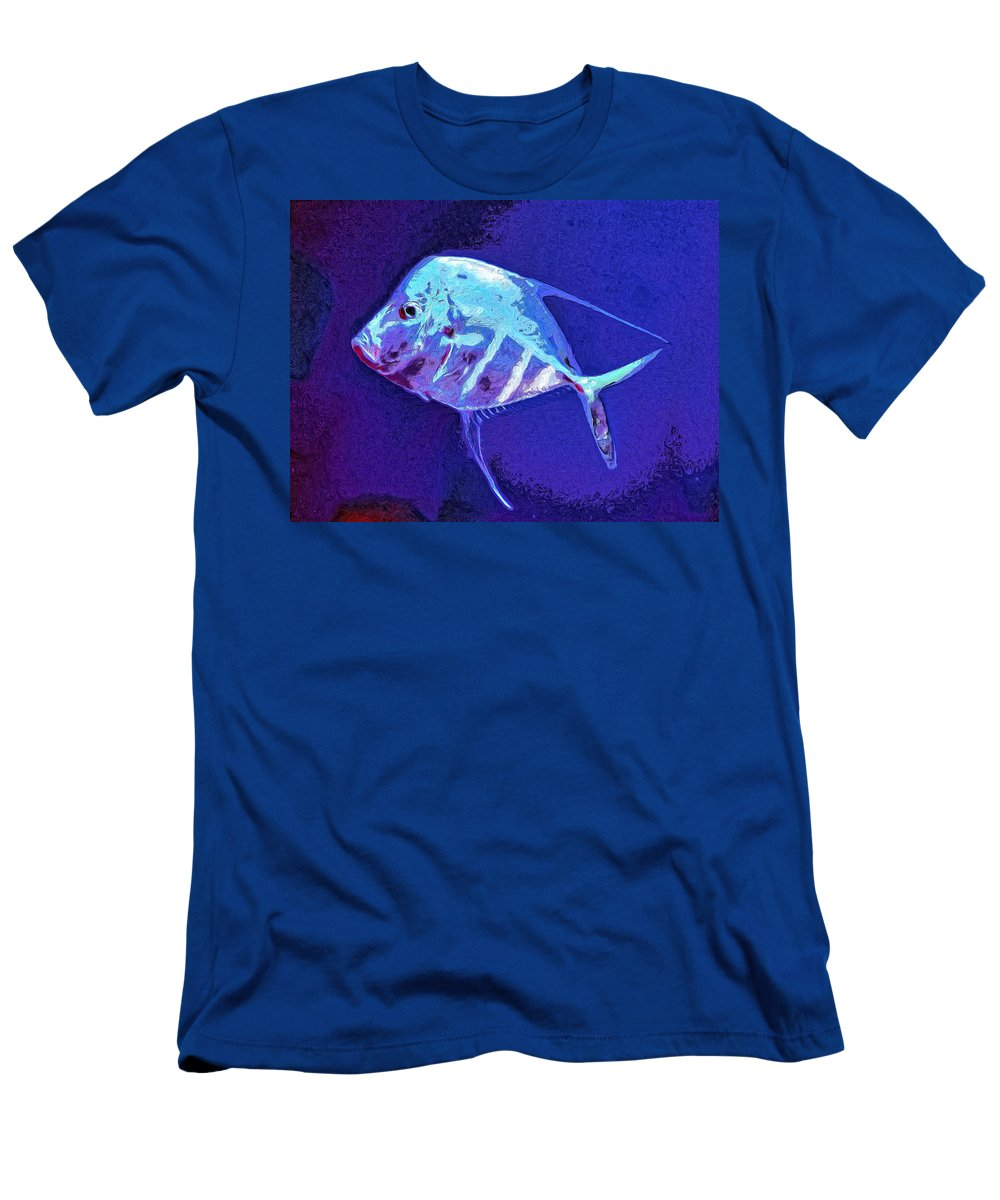 Fish Men's T-Shirt (Athletic Fit) featuring the painting Morton by Dominic Piperata