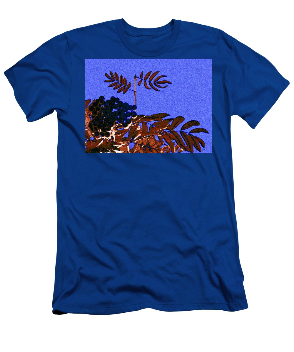 Abstract Men's T-Shirt (Athletic Fit) featuring the digital art Mountain Ash Design by Will Borden