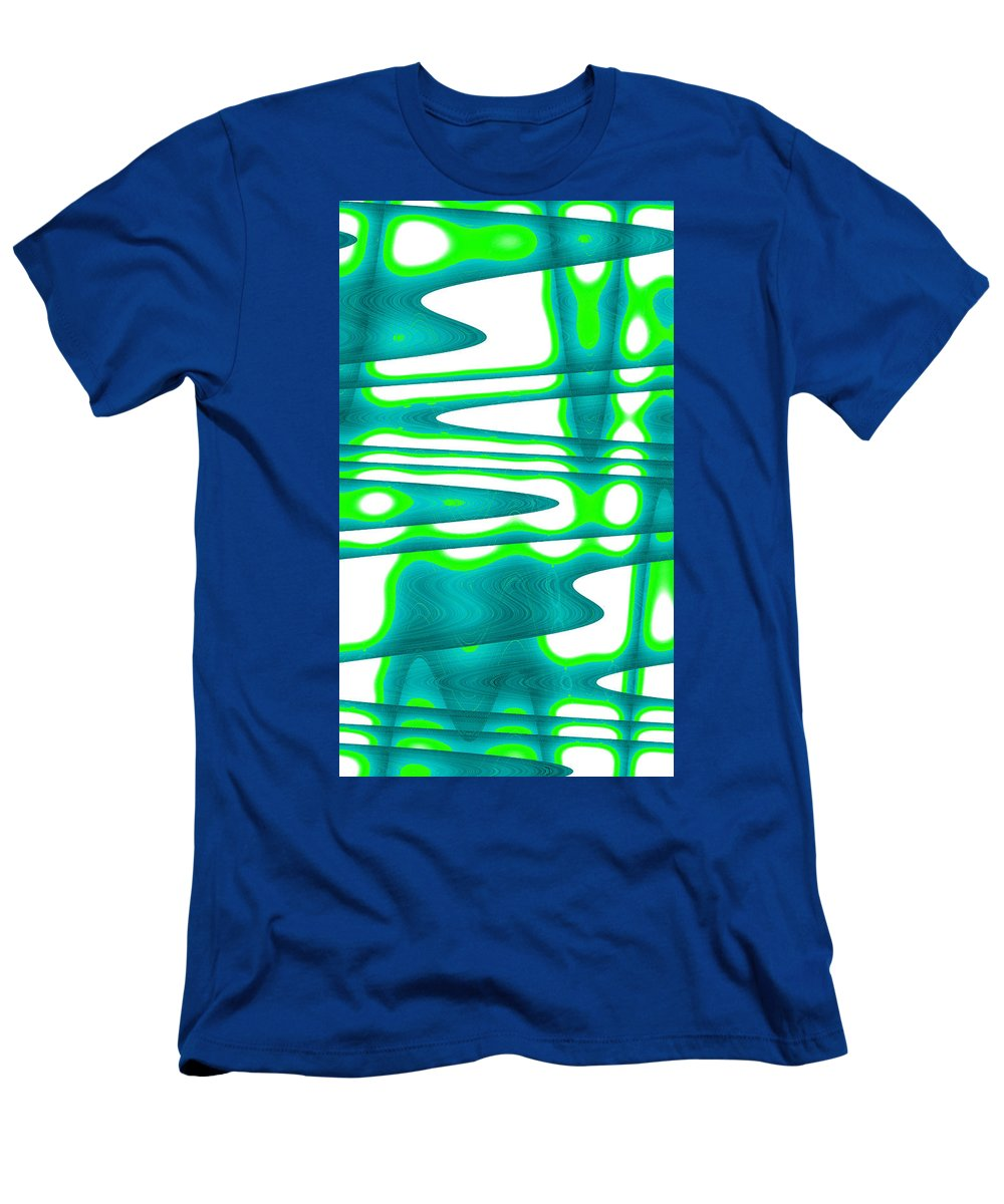 Moveonart! New York / San Francisco / Oklahoma / Portland / Missoula Jacob Kanduch Men's T-Shirt (Athletic Fit) featuring the digital art Moveonart Jacobs Abstract 2 by Jacob Kanduch
