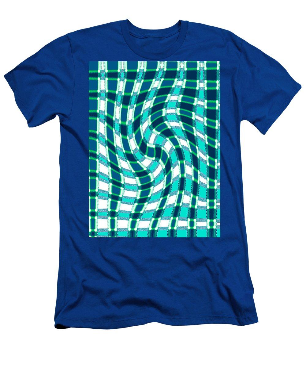 Moveonart Digital Gallery San Francisco California Lower Nob Hill Jacob Kane Kanduch Men's T-Shirt (Athletic Fit) featuring the digital art Moveonart New Patterns 3 by Jacob Kanduch